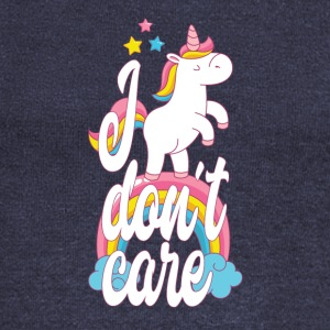 I don't care - unicorn - Women's Boat Neck Long Sleeve Top