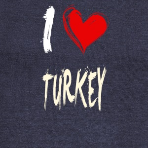 I love turkey - Women's Boat Neck Long Sleeve Top