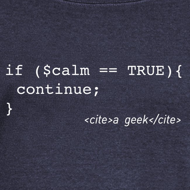 Coder's Keep Calm (with white text)