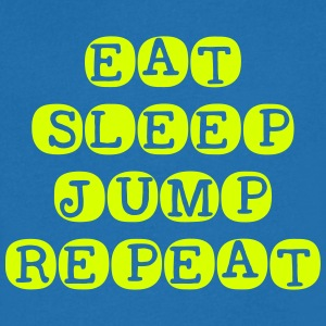 Eat Sleep Jump Gjenta - T-skjorte med V-utsnitt for menn