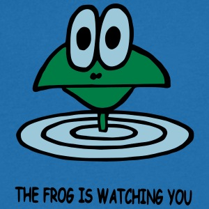 the frog is watching you - Men's V-Neck T-Shirt