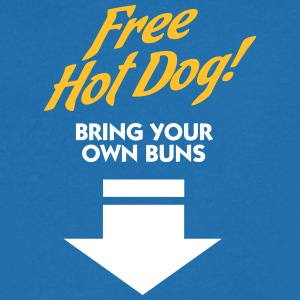 Free Hot Dog. Bring Your Own Boobs. - Men's V-Neck T-Shirt