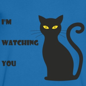Staring cat - Men's V-Neck T-Shirt