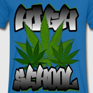 HIGH SCHOOL - Mannen T-shirt met V-hals