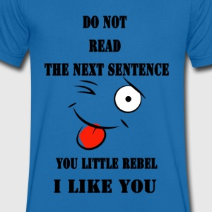 Do not read the next sentence - Men's V-Neck T-Shirt