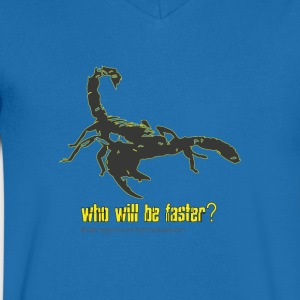 "Scorpio ""who will be faster?"" II - Men's V-Neck T-Shirt"