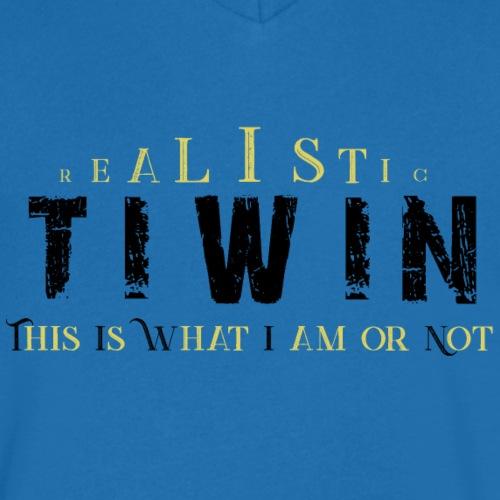 REALISTIC TIWIN jaune - T-shirt bio col V Stanley & Stella Homme