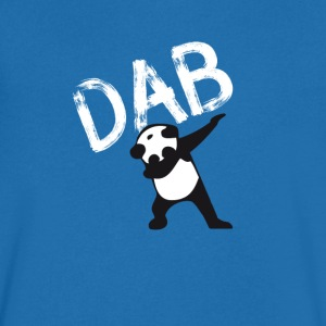 Panda dab badda hiphop Football Dance LOL touchd - T-shirt med v-ringning herr