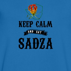 Rhodesia Keep Calm and eat Sadza - Men's V-Neck T-Shirt