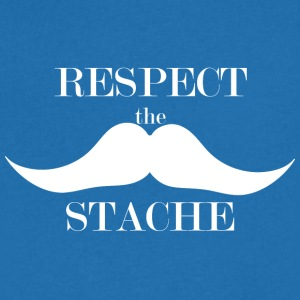 Respect the Stache - Men's V-Neck T-Shirt