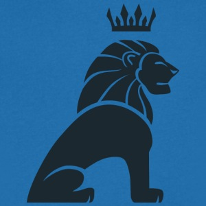 lion king svart - T-skjorte med V-utsnitt for menn