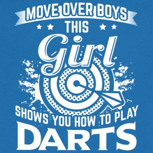 DART MOVE OVER BOYS HOW TO PLAY DARTS - Männer T-Shirt mit V-Ausschnitt