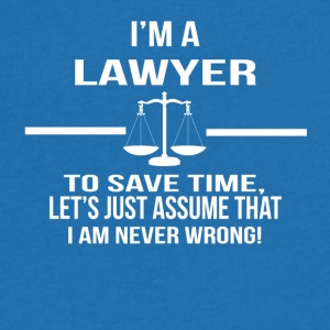 in a lawyer - Men's V-Neck T-Shirt