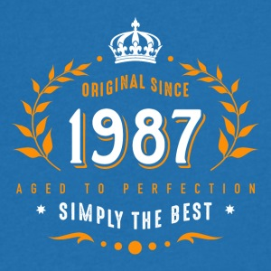 original since 1987 simply the best 30th birthday - Männer T-Shirt mit V-Ausschnitt