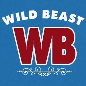 Wildbeast - viser Power - T-skjorte med V-utsnitt for menn
