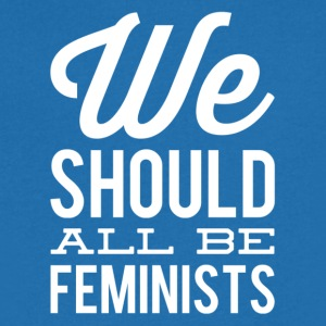 we all should be feminists 1 weiss - Männer T-Shirt mit V-Ausschnitt