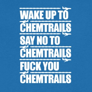 Say No to Chemtrails - Men's V-Neck T-Shirt