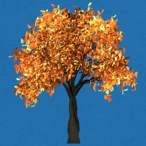 Beautiful tree with yellow leaves - Men's V-Neck T-Shirt