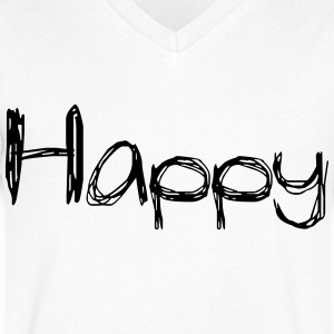 happy2 - Men's V-Neck T-Shirt