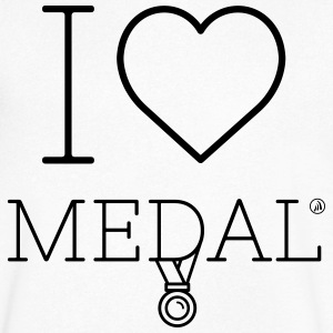 I love Medal - Men's V-Neck T-Shirt