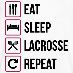 Eat Sleep Lacrosse Repeat - Men's V-Neck T-Shirt