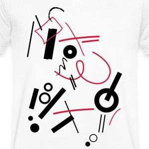 Abstract composition - T-shirt Homme col V