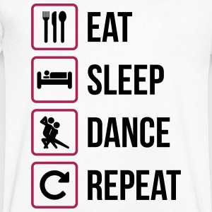 Eat Sleep Dance Repeat - Men's V-Neck T-Shirt