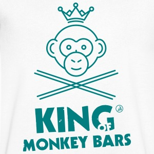 King of Monkey Bars - Maglietta da uomo con scollo a V