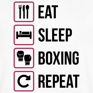 Eat Sleep Boxing Repeat - Men's V-Neck T-Shirt