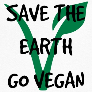 Save the earth go vegan - Men's V-Neck T-Shirt