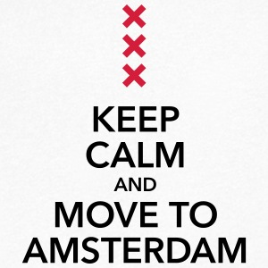Keep calm move to Amsterdam Holland Cross Cross - Men's V-Neck T-Shirt