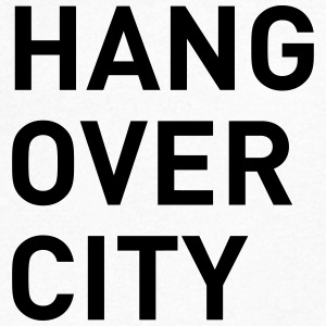 HANGOVER CITY - T-skjorte med V-utsnitt for menn