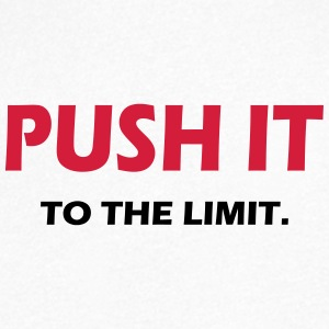 PUSH IT TO THE LIMIT - SIMPLE - Men's V-Neck T-Shirt