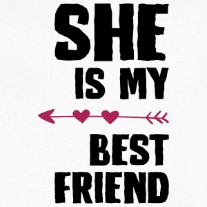 She is my best friend Right - Men's V-Neck T-Shirt