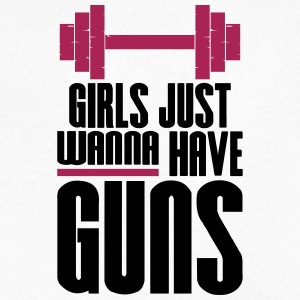 Meisje Just Wanna Guns Gym Fitness - Mannen T-shirt met V-hals