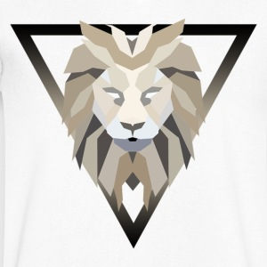 lion polygone - T-shirt Homme col V