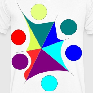 colors chaos - Men's V-Neck T-Shirt