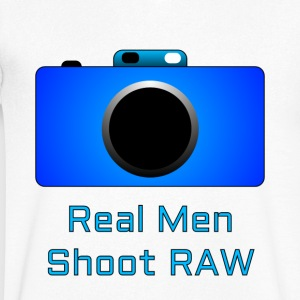 Real Men Shoot RAW - T-shirt Homme col V