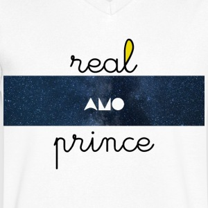 Real Prince amo Galaxy - Mannen T-shirt met V-hals