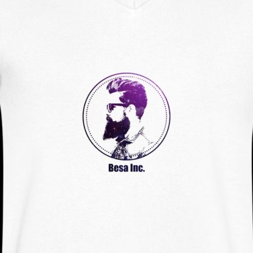 BesaInc logo - T-shirt ecologica da uomo con scollo a V di Stanley & Stella