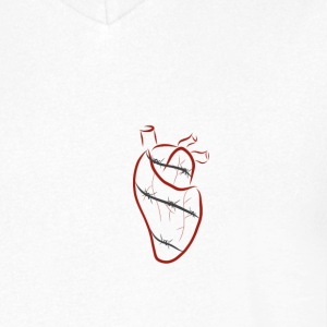 Barbed heart - Men's V-Neck T-Shirt