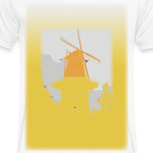 Mills yellow - Men's Organic V-Neck T-Shirt by Stanley & Stella