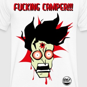 I hate camping # 2 (bloody) - Men's V-Neck T-Shirt