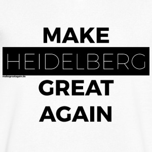 MAKE HEIDE MOUNTAIN GREAT AGAIN black - Men's V-Neck T-Shirt