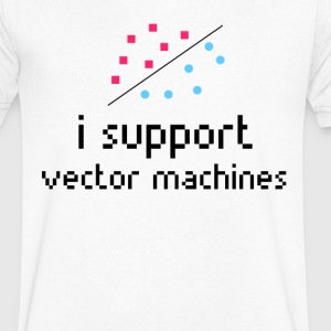 Machine Learning, Support Vector Machine - Men's V-Neck T-Shirt