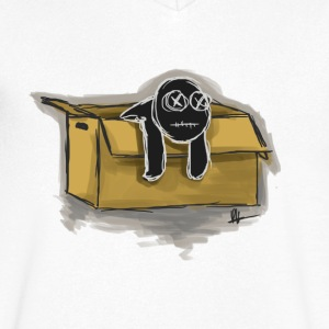 Box Doll - Mannen T-shirt met V-hals
