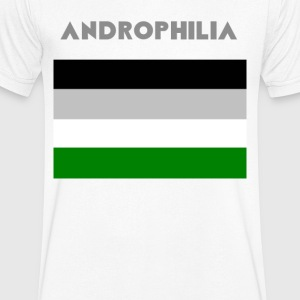 Drapeau Androphilia - T-shirt Homme col V