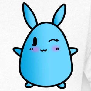Chibi Anime Rabbit - Eyes Kennel T-tröja - T-shirt med v-ringning herr