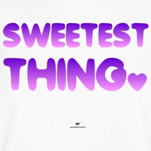Sweetest Thing - Mannen T-shirt met V-hals