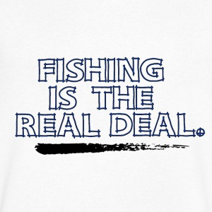 Fishing is the real deal - Fishing Addict - Men's V-Neck T-Shirt